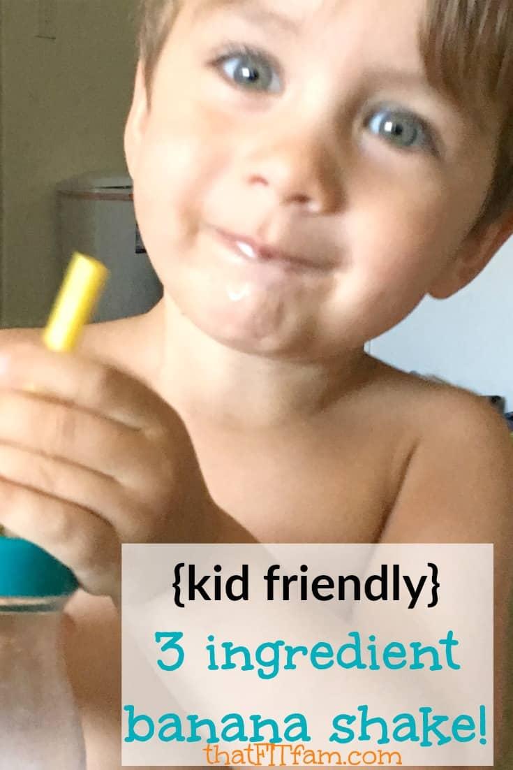 3 ingredient banana shake that kids LOVE!