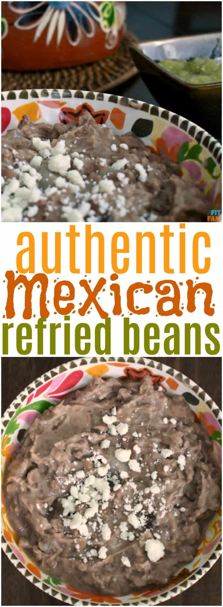 Authentic Mexican Refried Beans That Fit Fam