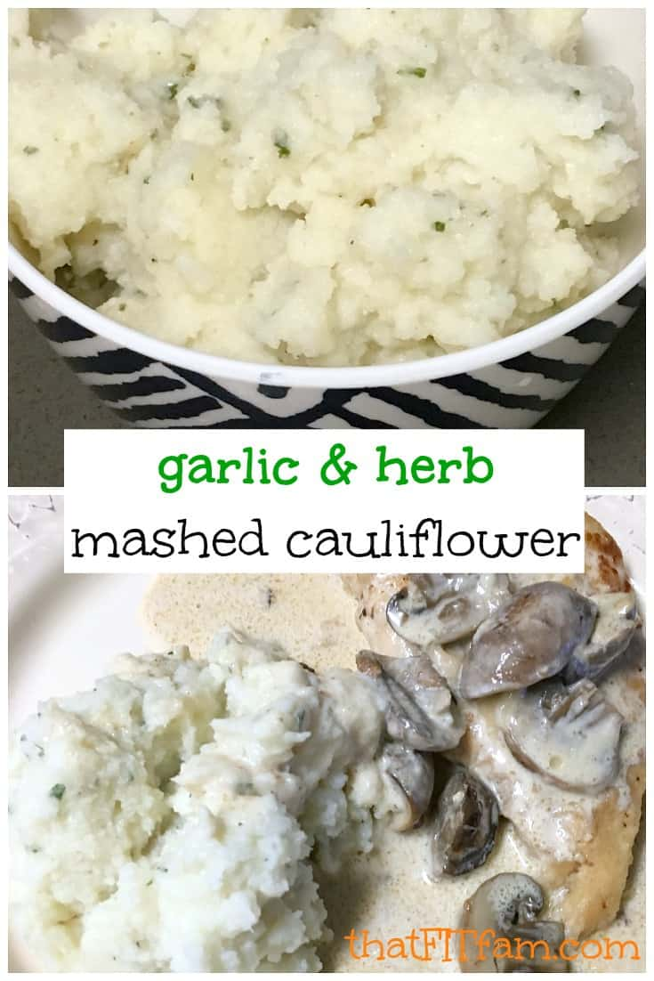 garlic and herb mashed cauliflower! My husband wont let me make normal potatoes anymore, he loves this way more!