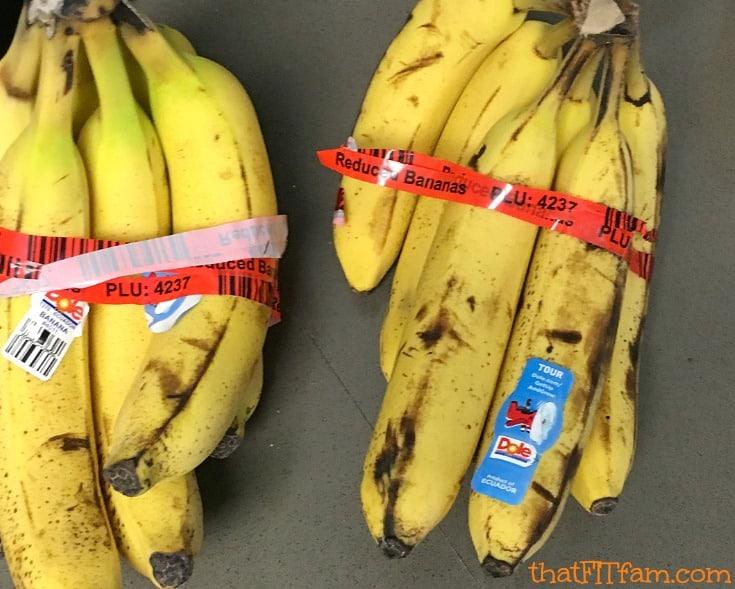 ripe bananas for the BEST banana shake!