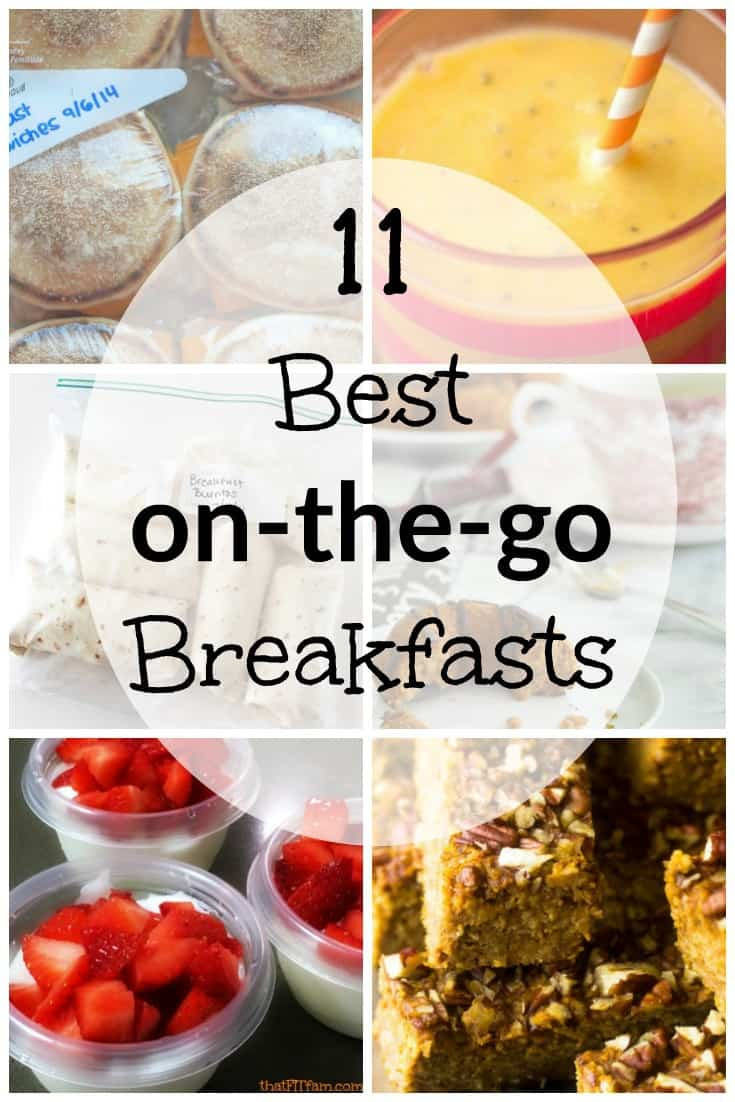 quick, easy, on the go breakfast ideas