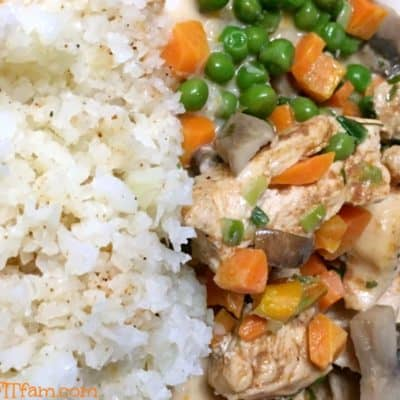 this deconstructed chicken pot pie is delicious, low carb, low fat, healthy! and so easy!