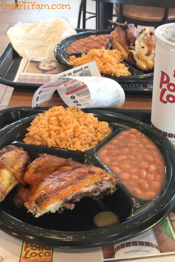 plate of food from el pollo loco