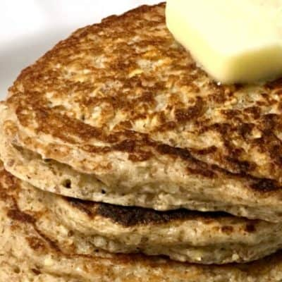 super easy and delicious whole grain flax seed pancakes, gluten free & high protein & surprisingly fluffy! great breakfast!