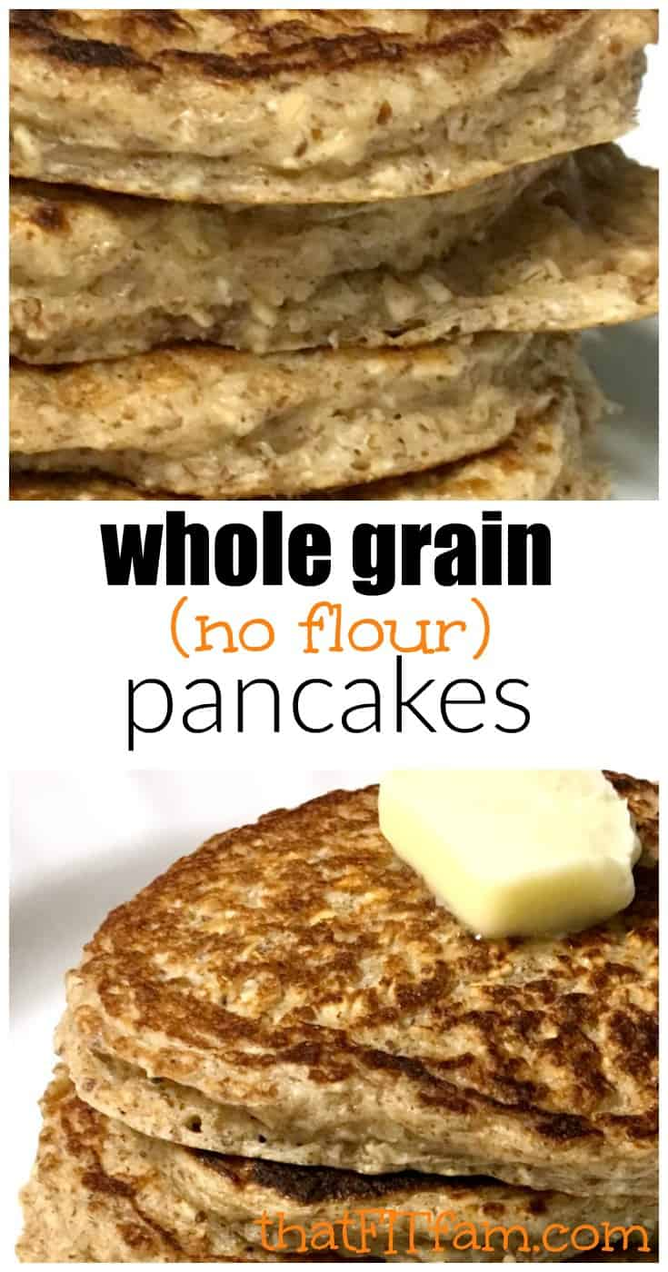 super easy and delicious whole grain flax seed pancakes, gluten free & high protein & surprisingly fluffy! great healthy breakfast!