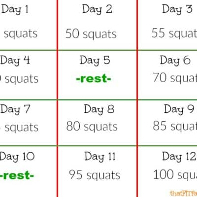12 days of squats! holiday/ Christmas work out motivation!
