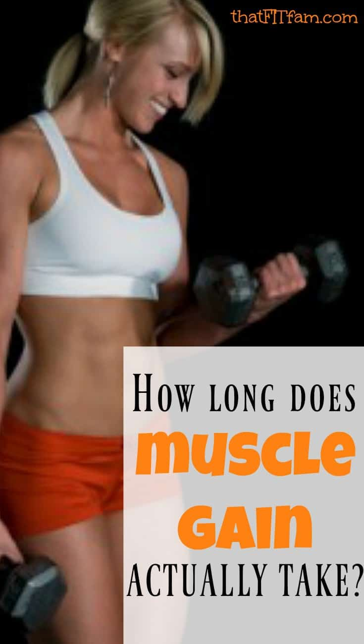 muscle gain doesn't happen as quickly as you might think! find out about muscle gain, weight loss, and more to healthy get healthy in the new year!