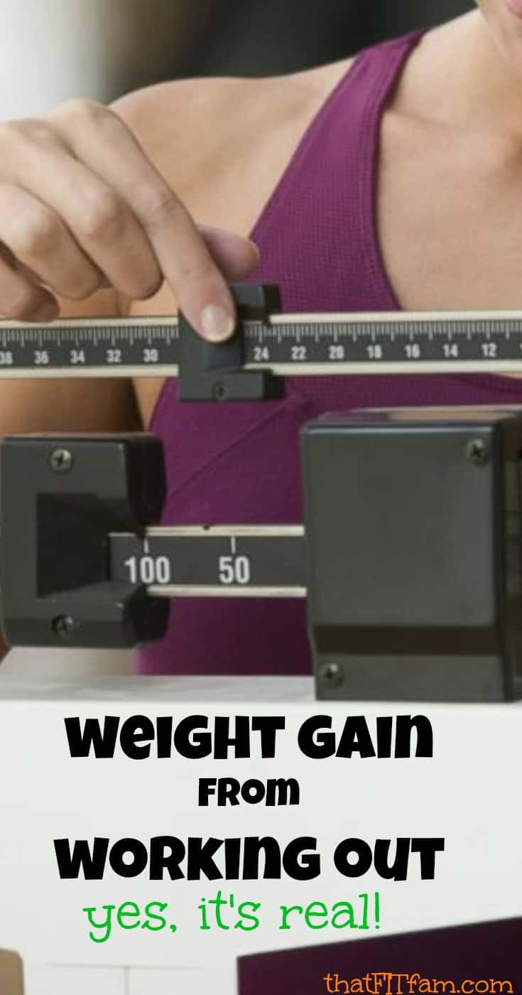 weight gain from starting a work out routine is completely normal, find out what it is and why it happens! great information about diet & weight loss!