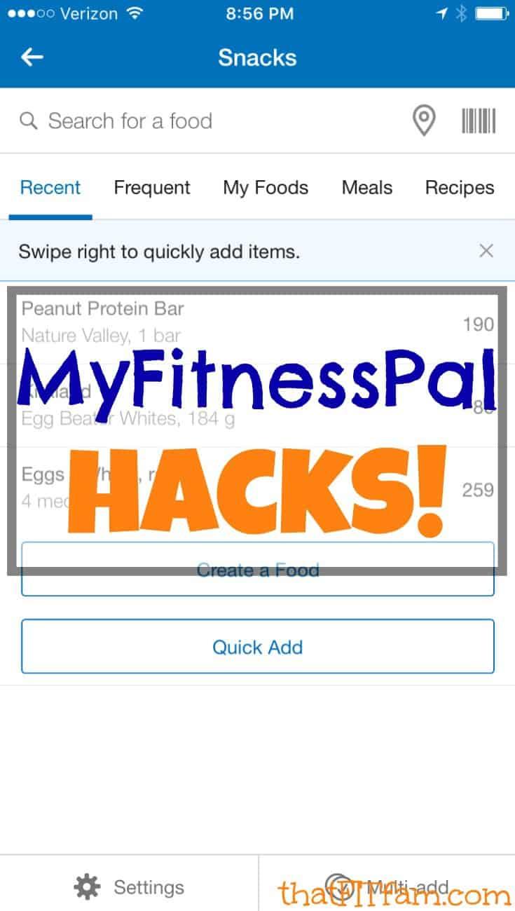 MyFitnessPal Hacks! - That Fit Fam