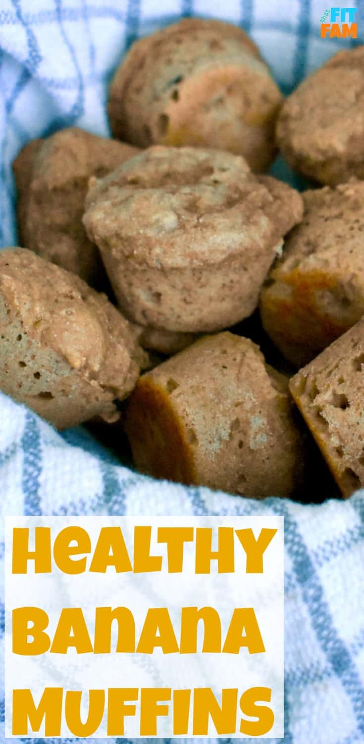 healthy kodiak cakes banana muffins are so moist and yummy! perfect on the go breakfast! my whole family LOVES them!