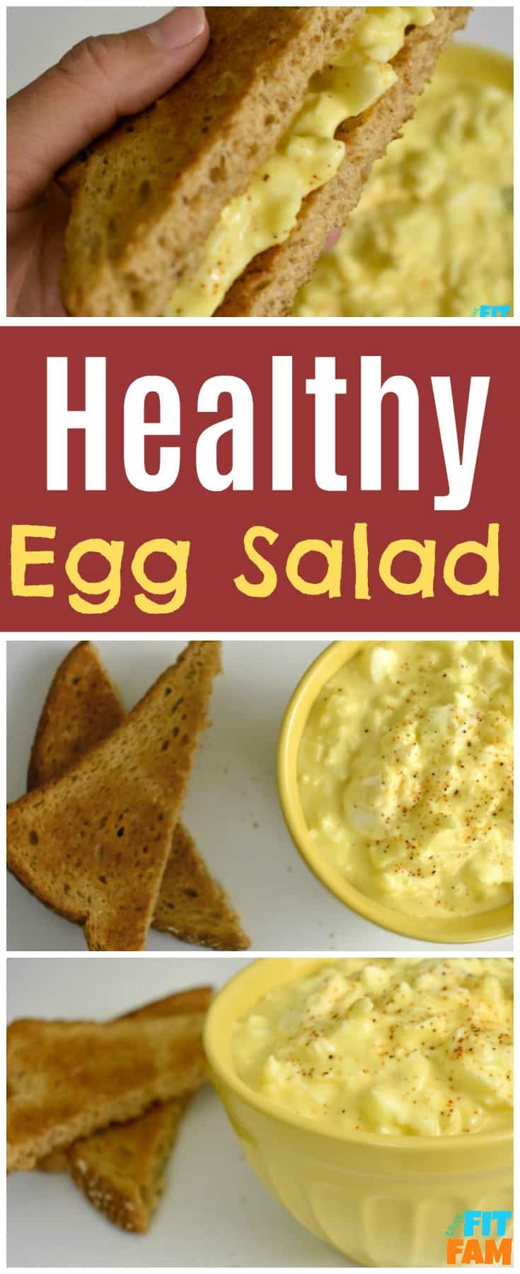 Healthy Egg Salad is the perfect healthy lunch, so easy to make and you can't even tell there's no mayo! Diet and IIFYM friendly recipe