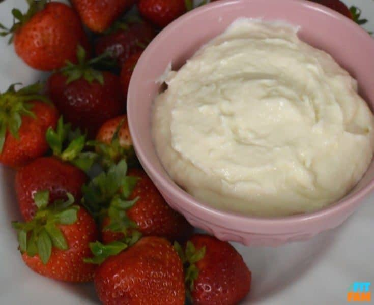 Healthy Protein Fruit Dip