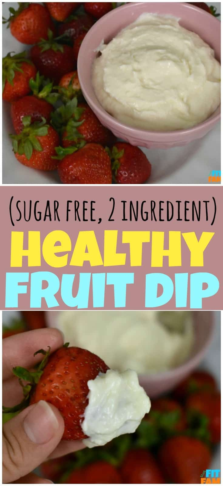 easy healthy fruit dip! sugar free and tastes so good even by itself! make a double batch! perfect party food!