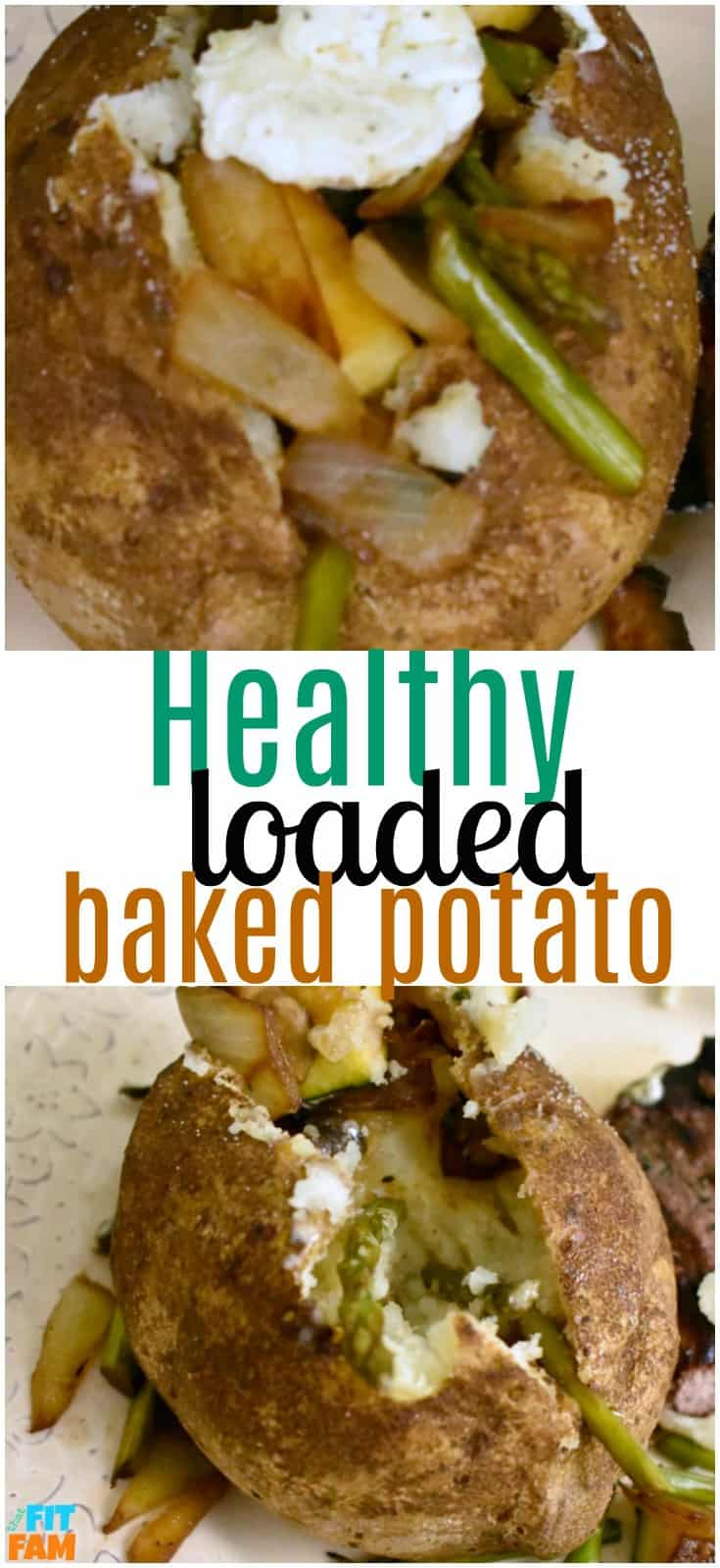Healthy loaded baked potato is so nutrient rich and delicious! You'd never guess it was low carb. Perfect side dish for dinner! Family friendly meal!