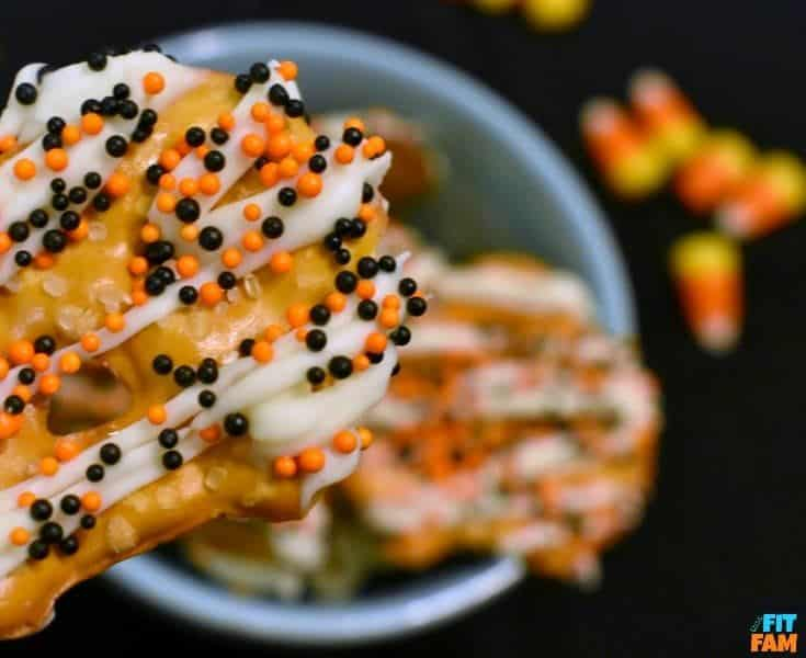 Halloween Yogurt Covered Pretzels