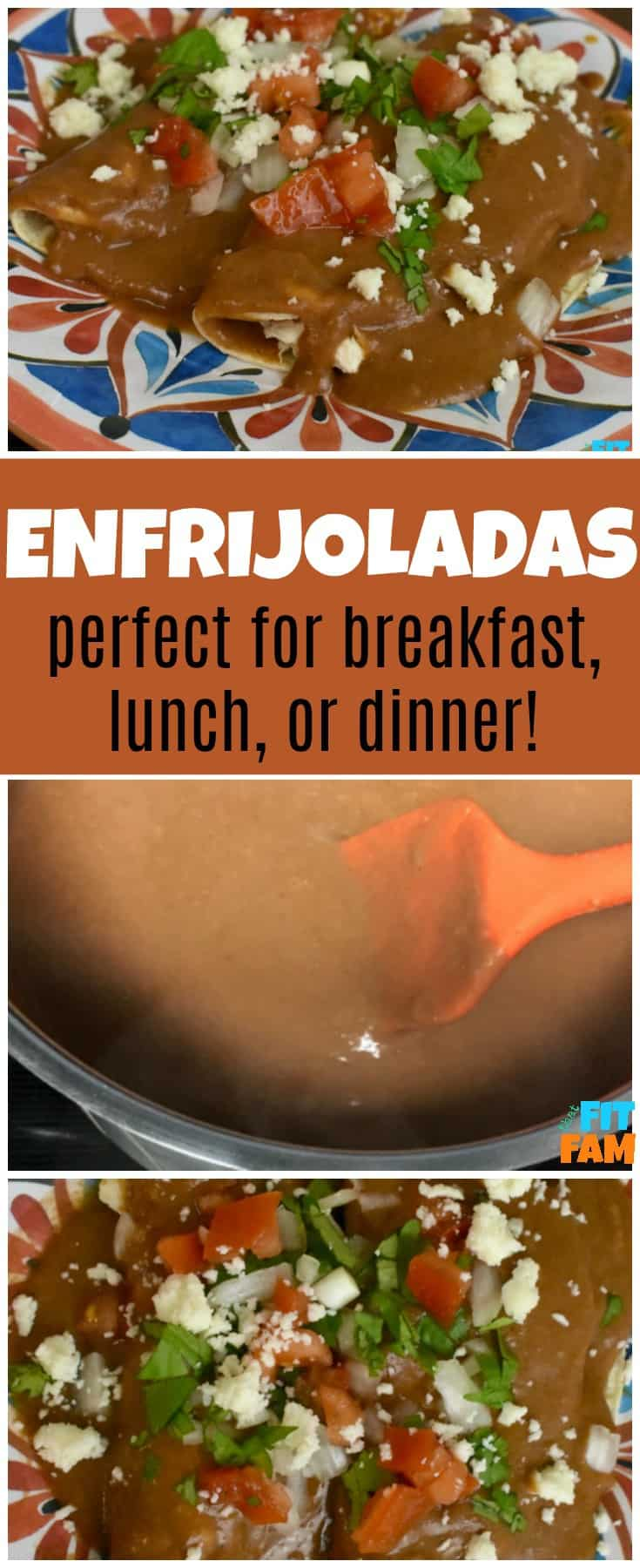enfrijoladas is an easy authentic Mexican dish you can eat at either breakfast, lunch or dinner. It's healthy and soo good! the ultimate comfort food!