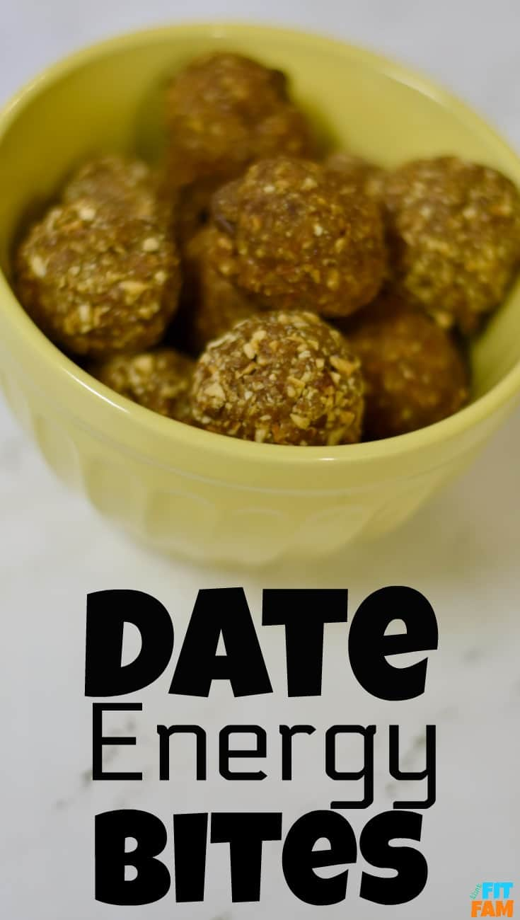 two super easy energy bites recipes made with dates! one is only 2 ingredients! both are no bake and healthy!
