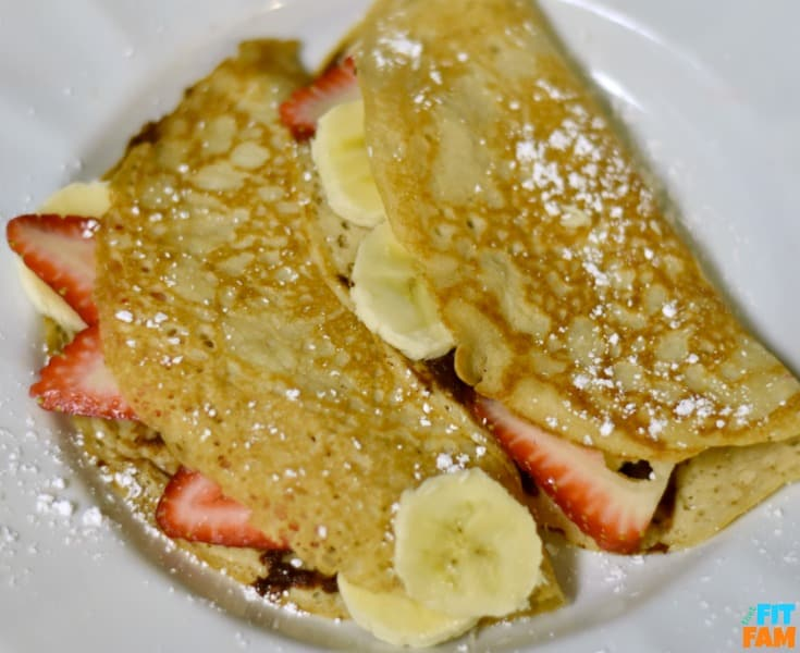 Super easy protein crepes! these taste like the real thing! Not dry, such a great treat for breakfast!