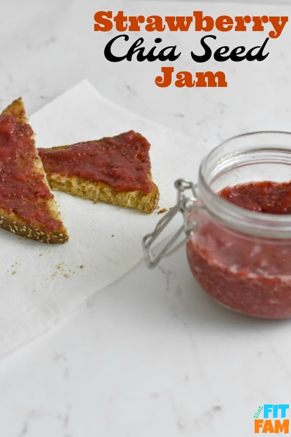 strawberry chia seed jam takes 5 minutes to make and is only 4 ingredients! so healthy, nutrient dense, and is refined sugar free! perfect for any diet and is #tiuapproved and #macrofriendly Chia seeds are such a great super food to include in your diet!