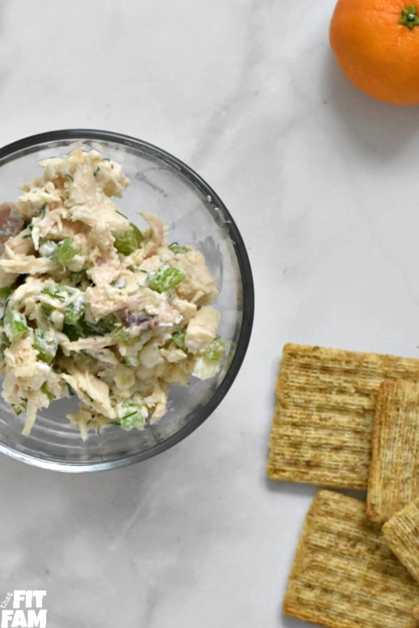 Greek yogurt chicken salad perfect healthy lunch for meal prep