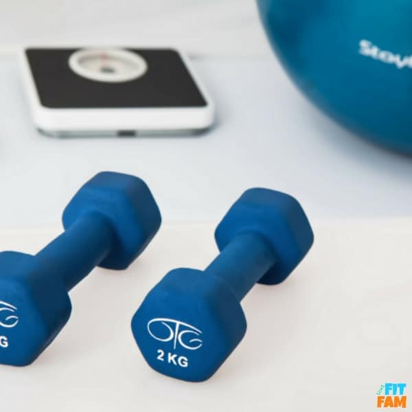 free weights and scale