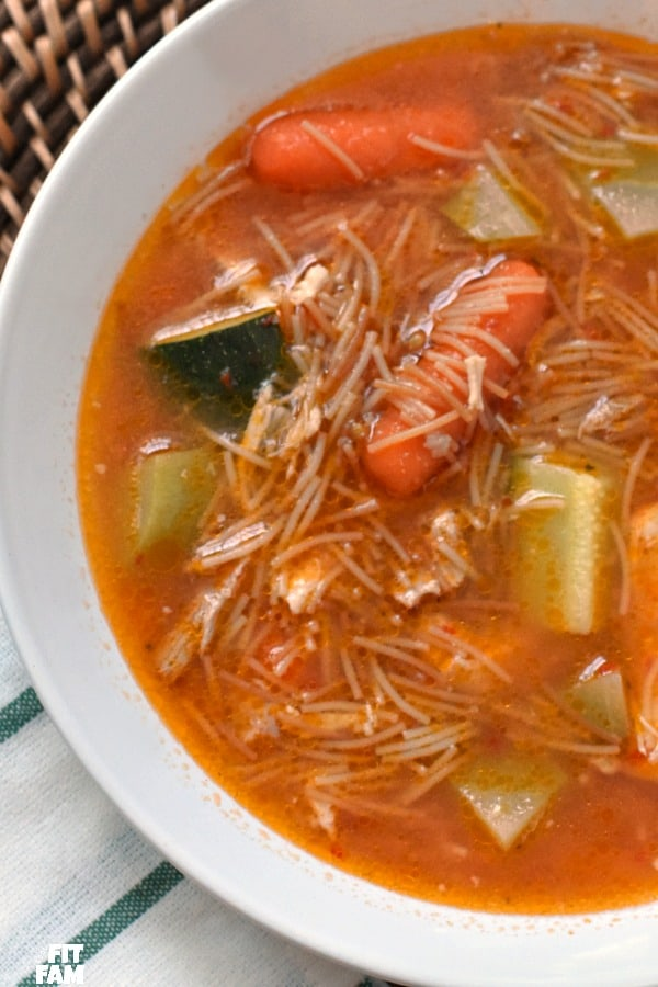 easy directions on how to make sopa de fideo, perfect soup when you're sick or just cold!