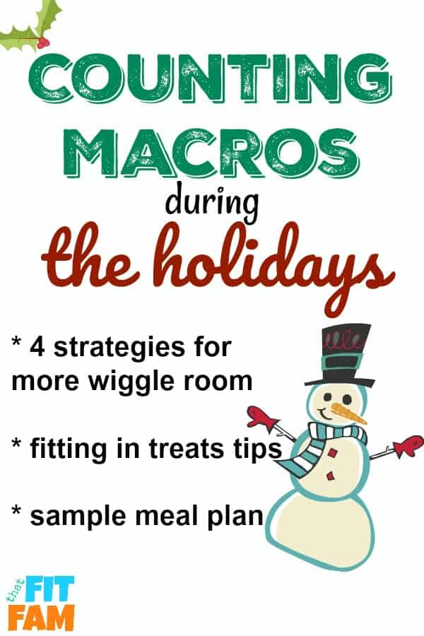 tips for counting macros during the holidays, it's hard to diet during christmas, thanksgiving and halloween. find out our favorite tips for sticking to IIFYM #weightloss #iifym #diettips