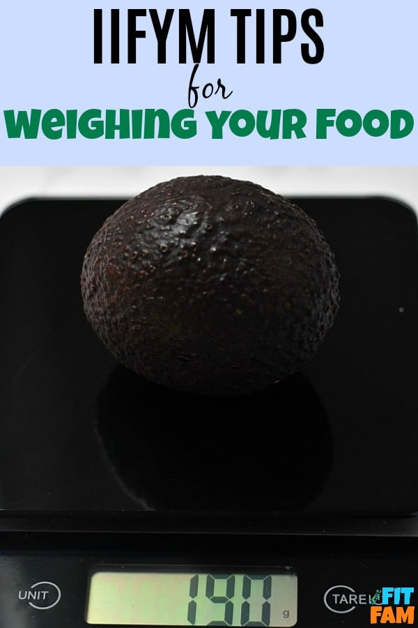 how to weigh food and track macros accurately for fat loss, weight loss, and muscle building #iifym #iifymdiet #macros