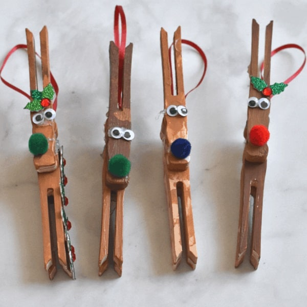 Reindeer Ornament Craft for Kids