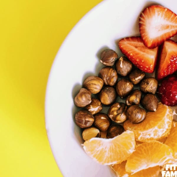 bowl of fruit & nuts