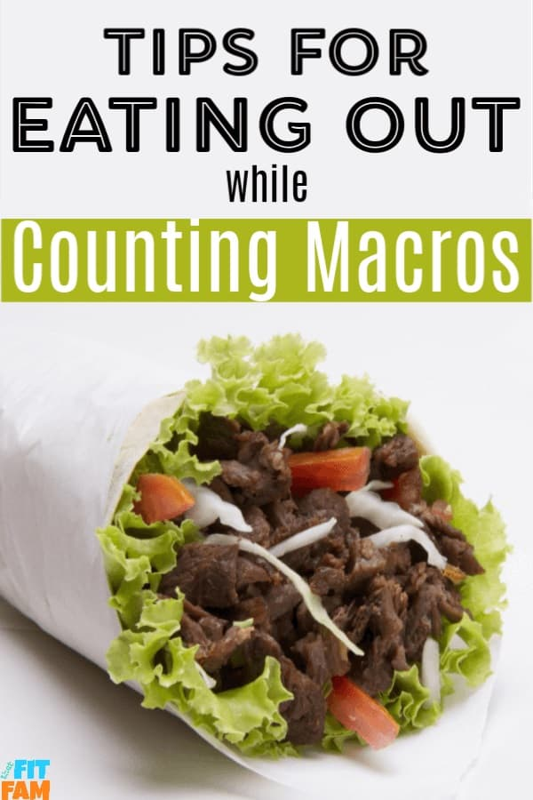 Eating out while counting macros is definitely allowed! Check out these tips to find out how to work restaurant meals INTO your macros! #iifym #flexibledieting #macros #weightloss