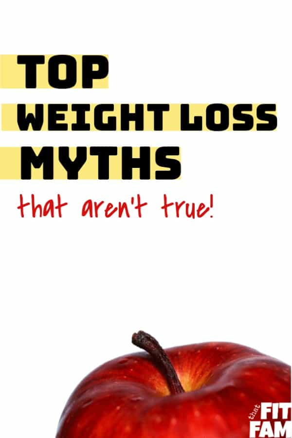 apple with text weight loss myths