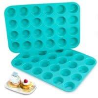 24 Mini Cupcake Pan Silicone Molds BPA Free