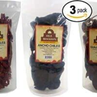 Dried Chili Pepper 3 Pack Bundle - Ancho, Guajillo, Arbol