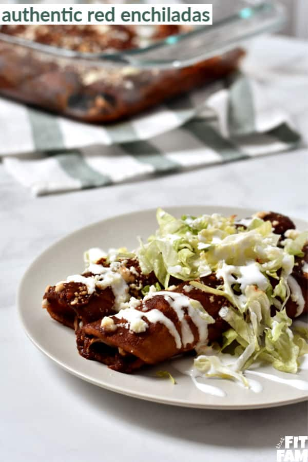 love this red enchilada recipe for when I'm craving REAL Mexican food! super authentic!
