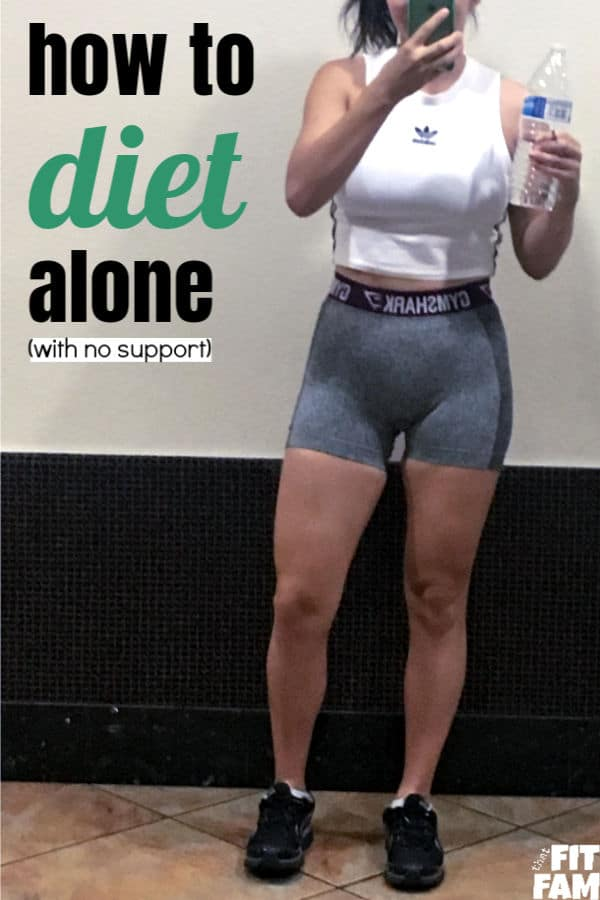 how to diet alone with out a support system. great tips for beginners who are struggling with weight loss