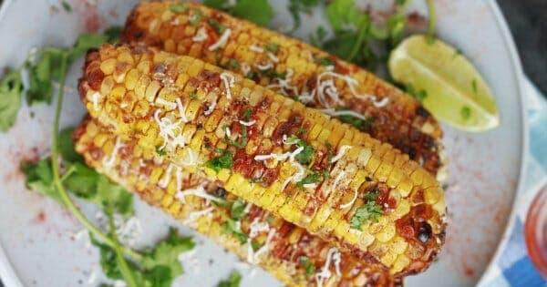 Air Fryer Mexican Street Corn