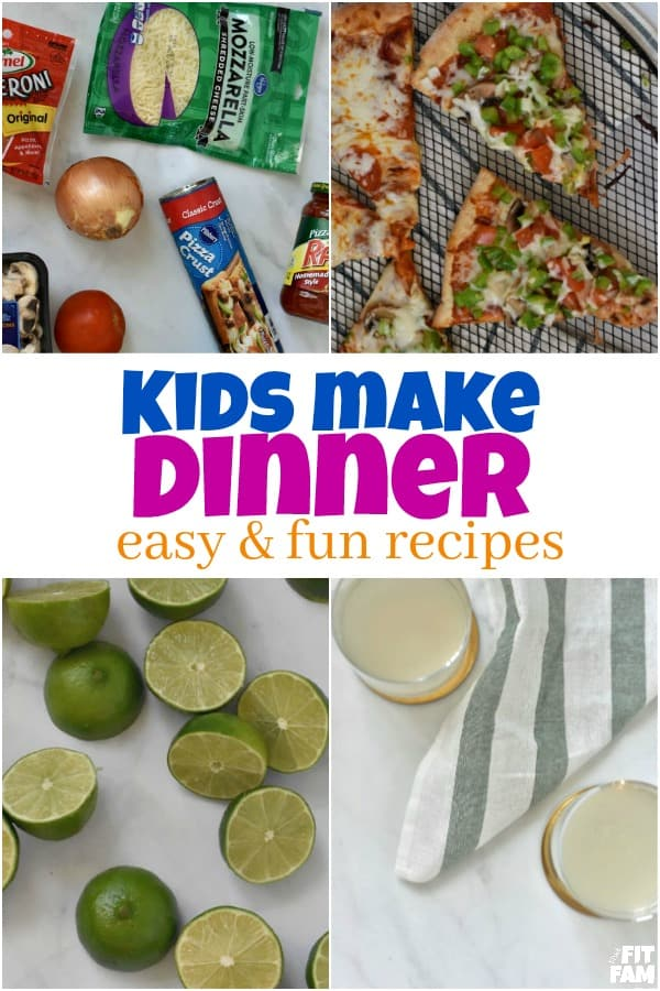 one of our fave summer activities is to have the kids make dinner. they always have a blast!