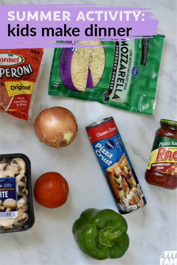 fun kids activity during summer-kids make dinner, easy recipes for kids to make!
