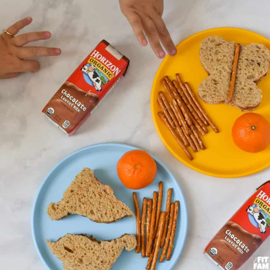 kids love their almond butter and jelly sandwiches for lunch