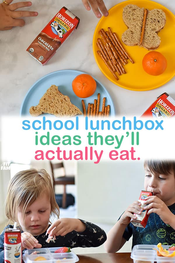 school lunchbox ideas and directions on how to build the perfect lunch for kids!