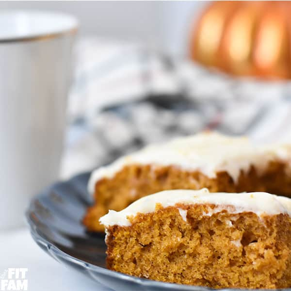 delicious pumpkin bars on a plate