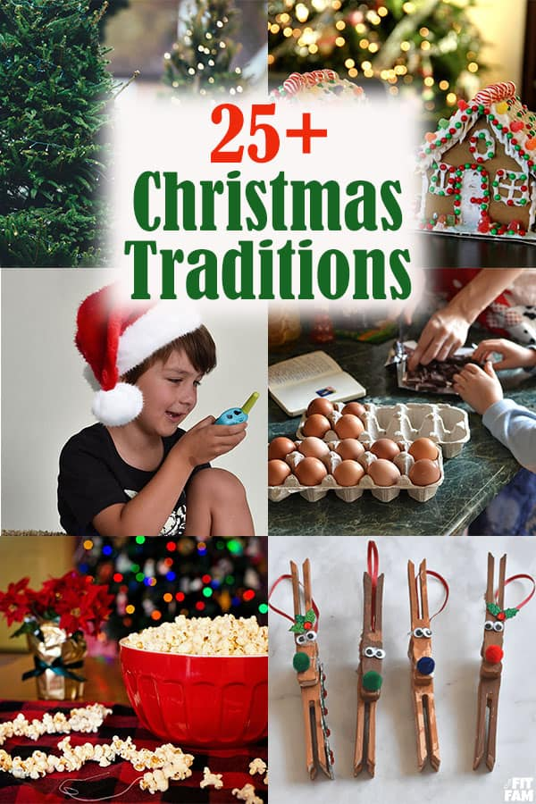 Christmas Traditions for the family! over 25 fun ideas! some are for the night before, and lots can be done all month long! love these family traditions #christmas
