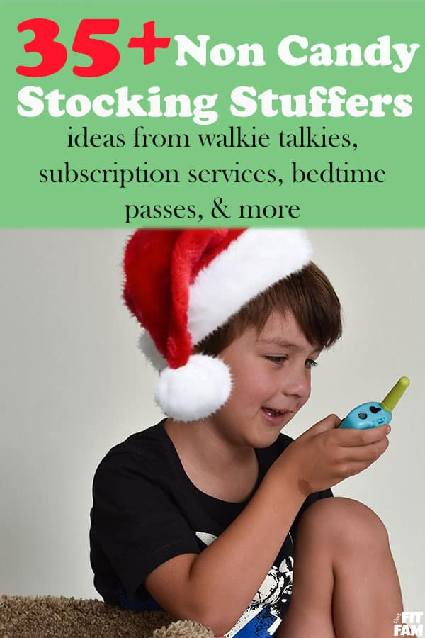non candy stocking stuffers - over 35 unique stocking ideas! from walkie talkies to movie passes, family recipes and way more! #christmas