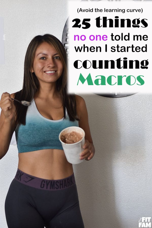 beginners tips for counting macros! 25 things no one ever told me when I started IIFYM. these will help you avoid the learning curve! #iifym #macros