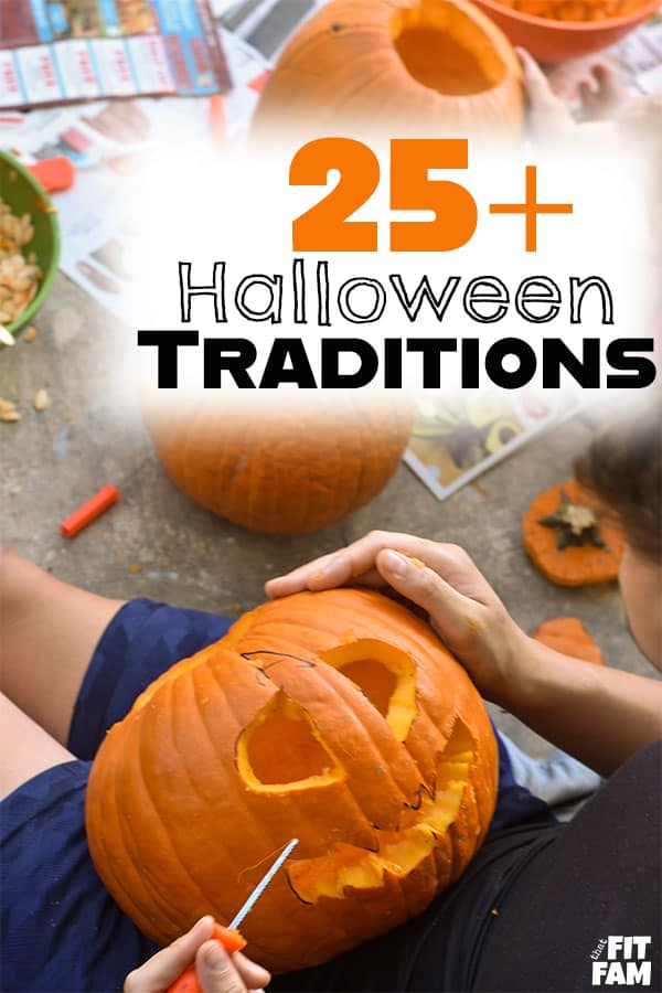 over 25 of our favorite Halloween traditions for kids. we love these family traditions! #halloween #family