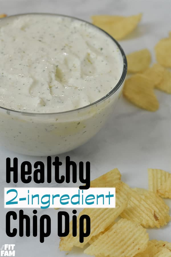easy cottage cheese chip dip, perfect healthy chip dip for party food. ONLY 2 ingredients! SO easy!