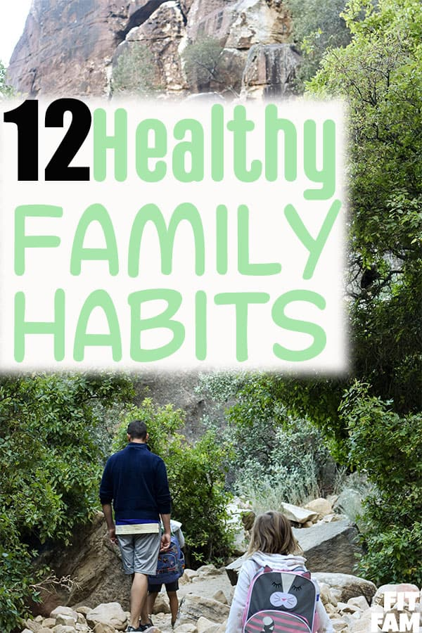 12 healthy family habits that are easy to start! we love these ideas! applicable to both mental & physical health! #familygoals