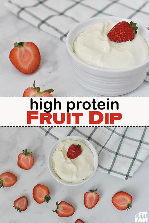 healthy fruit dip with strawberries