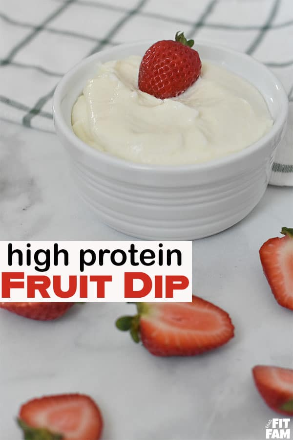 healthy fruit dip and strawberries!